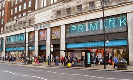 Rue Londres d'Oxford de magasin de Primark Photo libre de droits