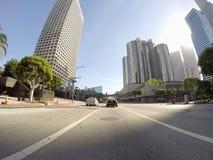 Rue Los Angeles de Figueroa Images stock