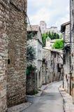 Rue médiévale à Assisi Photos stock