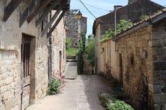 Rue médiévale dans la ville française Penne photo libre de droits