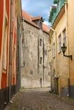 Rue médiévale de Tallinn Photo libre de droits