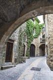Rue médiévale en Catalogne Photos libres de droits