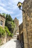 Rue médiévale en Catalogne Image stock