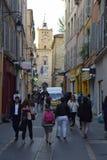 Rue Marechal Foch Aix-en-provence, Bouches-du-Rhone, Frankrike Arkivbild