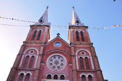 Rue Mary/cathédrale de Notre Dame, Saigon, Vietnam Photographie stock libre de droits