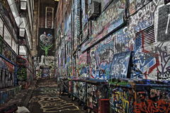 Rue Melbourne HDR de Graffity de ruelle de Rutledge Photos stock