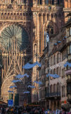Rue Merciere in Straßburg Stockfotos