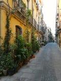 Rue mignonne à Cagliari, Sardaigne Italie Photos libres de droits
