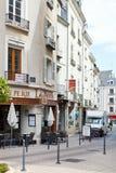Rue Montauet-Straße verärgert herein, Frankreich stockfotos