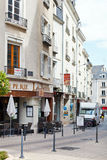 Rue Montauet street in Angers, France Stock Photos