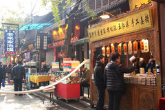 Rue musulmane animée dans Xian Image libre de droits