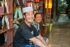 Rue musulmane dans Xian, Chine Images stock