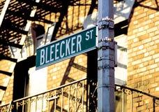 Rue New York City de Bleecker Images libres de droits