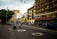 Rue occupée de Naples Photo libre de droits