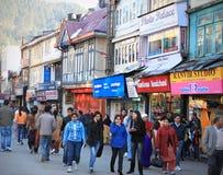 Rue occupée du marché Photo libre de droits