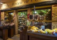 Rue Pairoliere i Nice, Frankrike Royaltyfri Bild