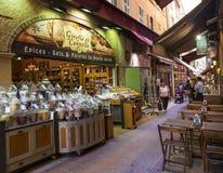 Rue Pairoliere in Nizza, Frankreich Lizenzfreies Stockbild
