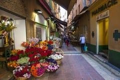 Rue Pairoliere in Nizza, Frankreich Lizenzfreie Stockbilder