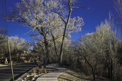 Rue par Santa Fe Images stock