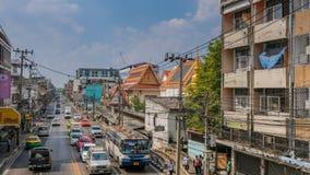 Rue passante de Bangkok images stock