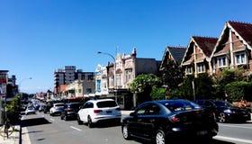 Rue passante en plage Sydney de Bondi photographie stock libre de droits