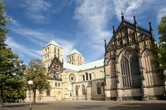 Rue Paulus de cathédrale à Muenster, Allemagne images libres de droits