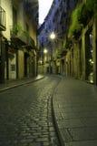 Rue pavée en cailloutis photographie stock