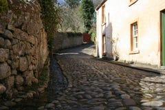 Rue pavée en cailloutis, Cromarty, Ecosse Image libre de droits