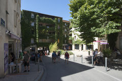 Rue Pente Rapide, Αβινιόν, Γαλλία Στοκ Εικόνα
