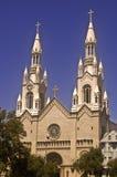 Rue Peter et église de Paul à San Francisco Images libres de droits