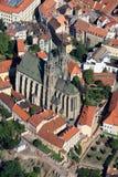 Rue Peter et cathédrale de Paul Image stock