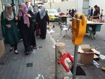 Rue peuplée dans Betlehem, Palestine image libre de droits