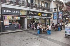 Rue piétonnière commerciale de temple de Nanchan photographie stock