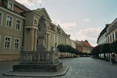 Rue Pologne wroclaw de Kathedealna photographie stock libre de droits