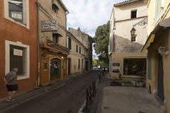 Rue Porte de Laure, Arles, France Stock Images
