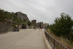 Rue Porte Mage, Les Baux-de-Provence, France Royalty Free Stock Images