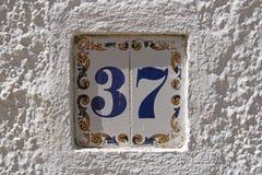 Rue portugaise numéro 37 Images stock