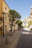 Rue Princesse Caroline, Monaco Fotografia Stock