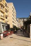 Rue Princesse Caroline, Monaco Photo stock