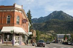 Rue principale dans Ouray, le Colorado Image stock
