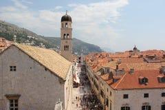 Rue principale de Dubrovnik photos stock