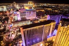 Rue principale de Las Vegas la nuit Photographie stock