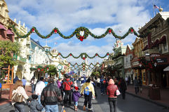 Rue principale de monde de Walt Disney Photos libres de droits