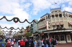 Rue principale de monde de Walt Disney Images libres de droits