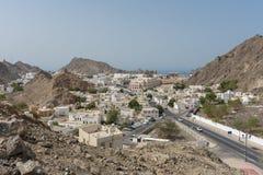 Rue principale de vieille vue de ville de Muscat photographie stock