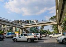 Rue principale de Yangon, Myanmar photos stock