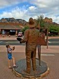 Rue principale du centre de Sedona, Arizona, Etats-Unis Photos stock
