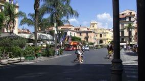 Rue principale Italie de Sorrente clips vidéos