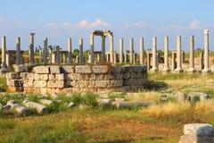 Rue romaine antique de Cardo dans le côté, Images libres de droits
