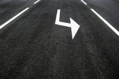 Rue, route, sens de flèche Photographie stock libre de droits